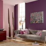 Фото 7: Покраска водоэмульсионкой стены в сиреневый цвет