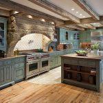 Фото 15: Мятный оттенок мебели для кухни
