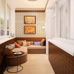 Фото 7: Обшивка стен балкона кирпичем