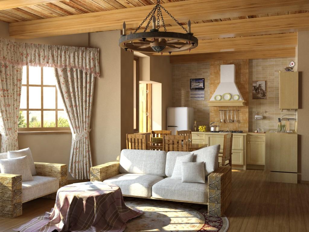 Использование натуральных материалов для создания стиля кантри в доме
