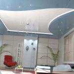 Фото 2: Натяжной потолок на кухни