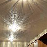 Фото 6: Светильники на натяжном потолке