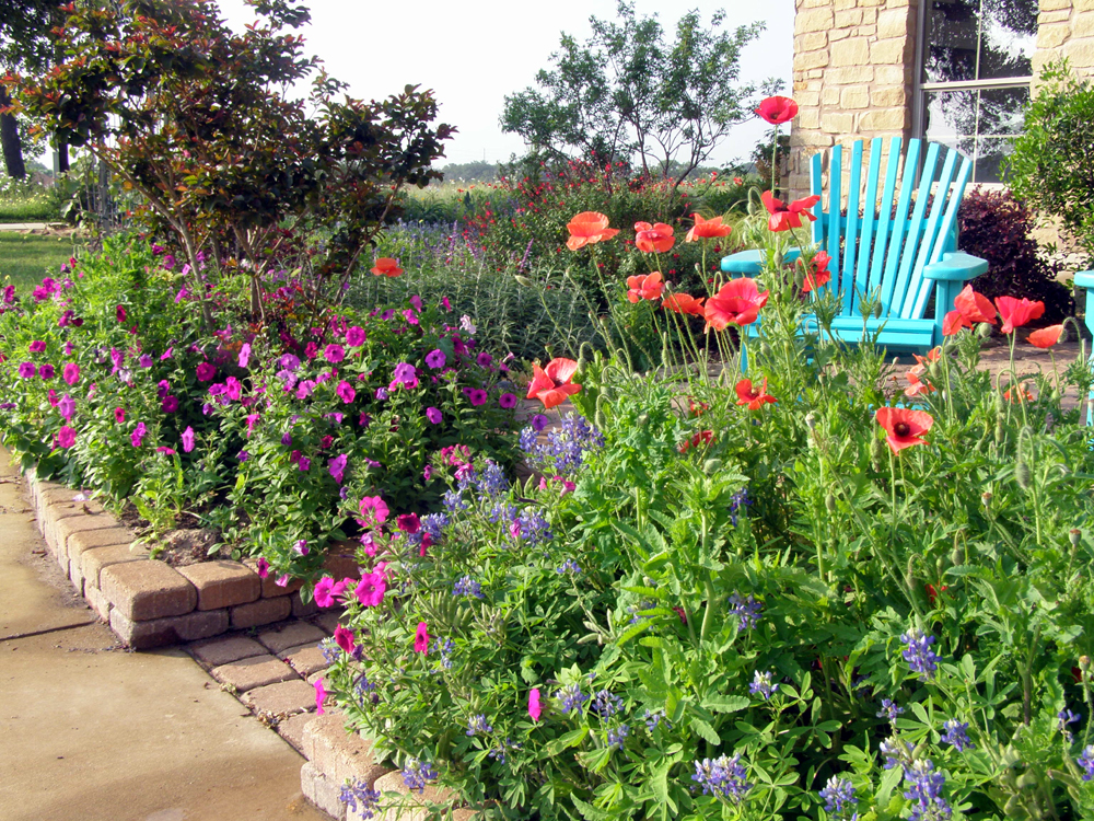 Цветник с многолетними цветами