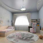 Фото 11: Потолок из гипсокартона в детской комнате