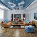 Фото 76: Натяжные потолки для гостиной