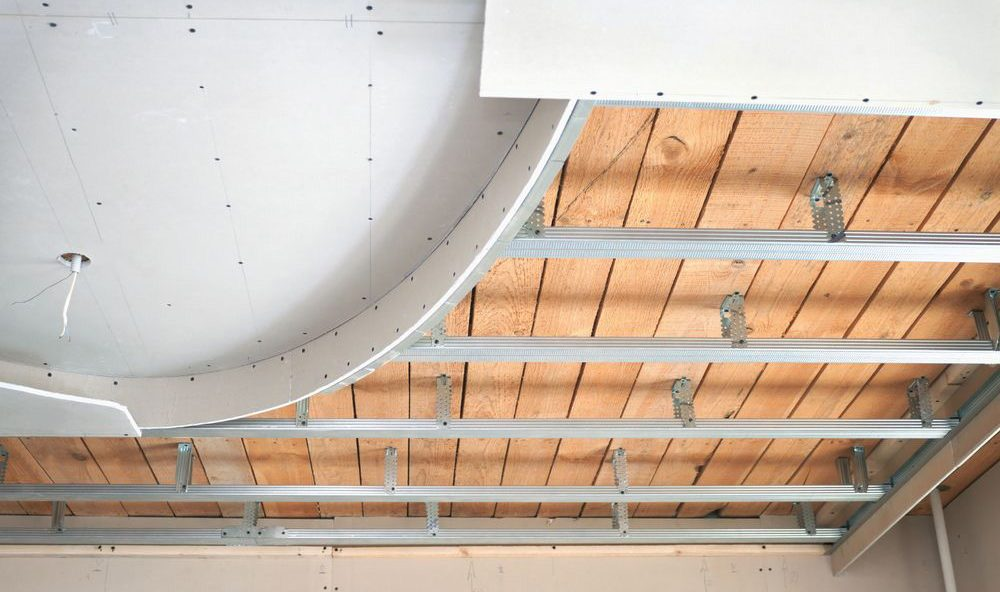 Каркас для двухуровневого потолка своими руками