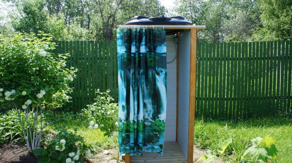 Летний душ в саду своими руками