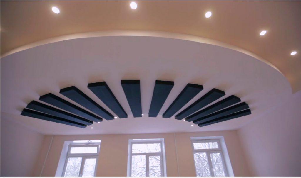 Оригинальный потолок из гипсокартона