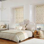 Фото 85: Нежная спальня - изысканные римские шторы