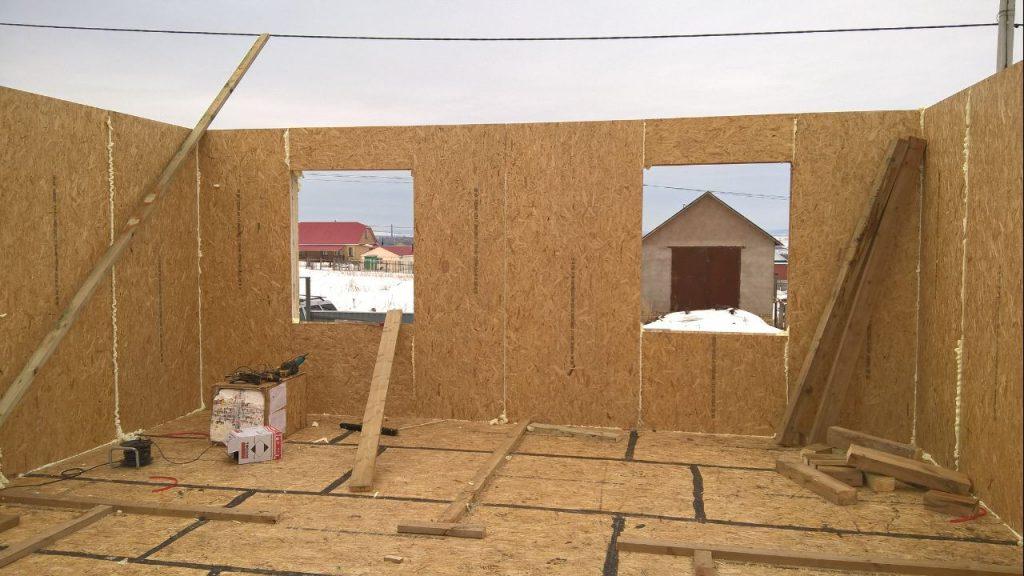 Дом из сип панелей фотоотчет этапов