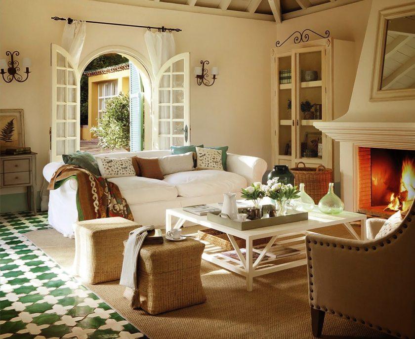 Гармоничное сочетание мебели и элементов декора в стиле кантри