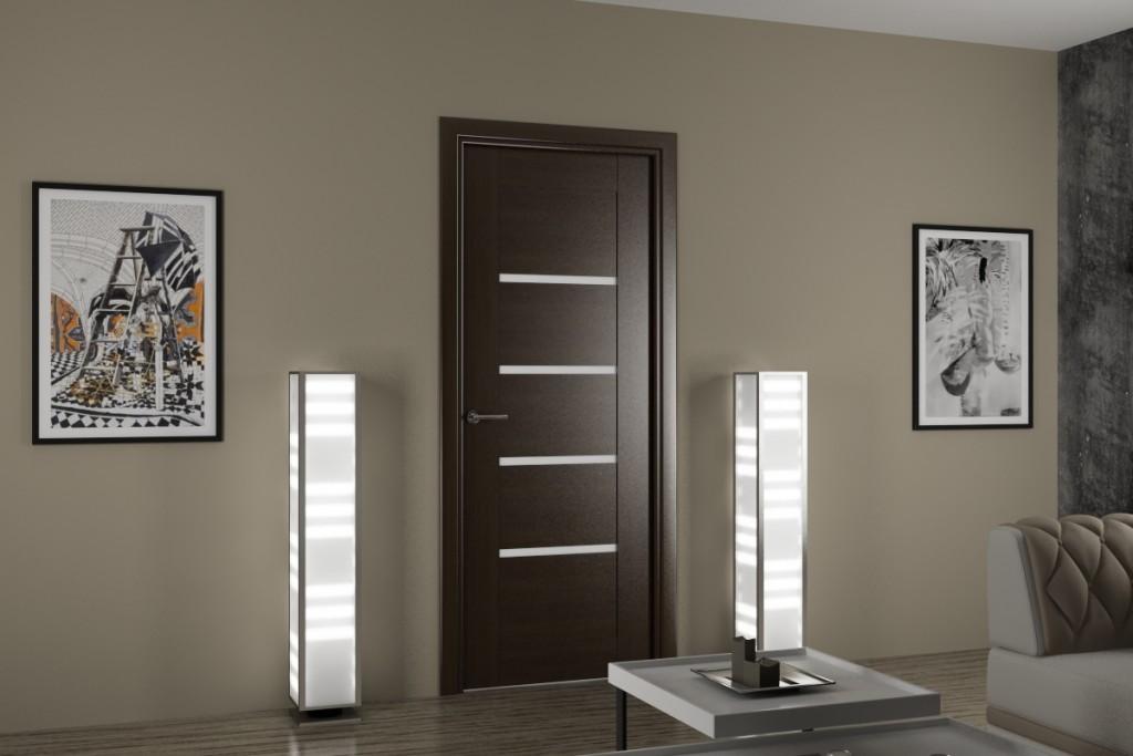 Стильные межкомнатные двери из шпона