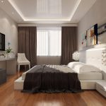 Фото 86: Натяжной потолок в спальне