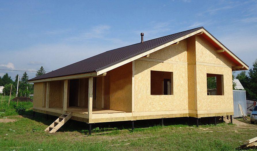 Красивый дизайн дома из СИП-панелей