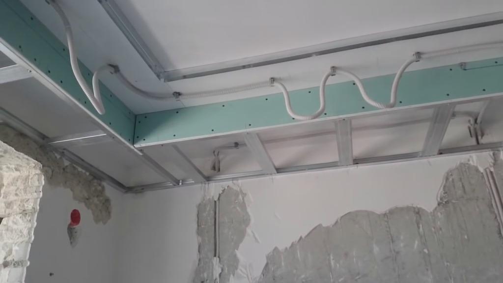 Создание каркаса для двухуровневого потолка