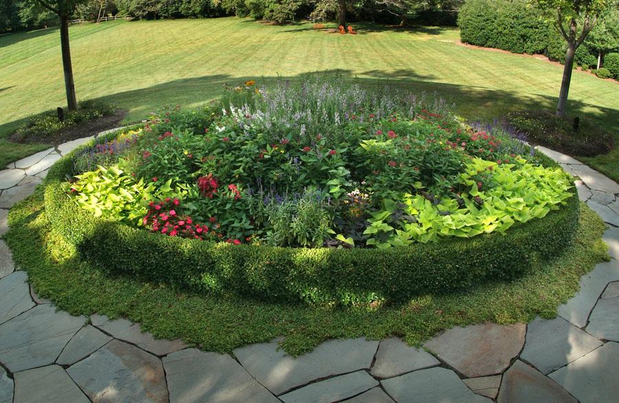 Креативный дизайн клумбы и подобранных растений