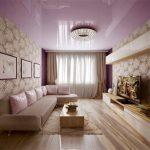 Фото 71: Сиреневый натяжной потолок