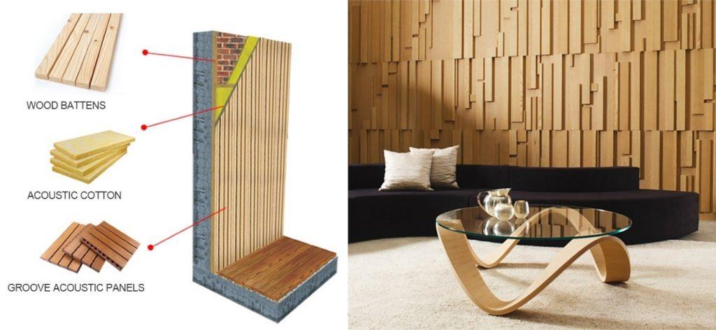 Деревянные панели для звукоизоляции