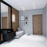 Фото 16: Стильная и просторная прихожая в квартире