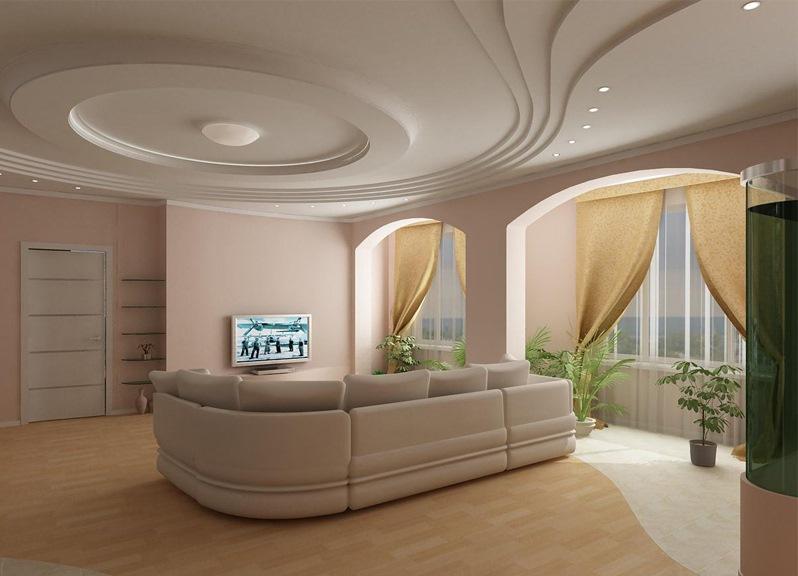 Изумительное дизайнерское оформление потолка