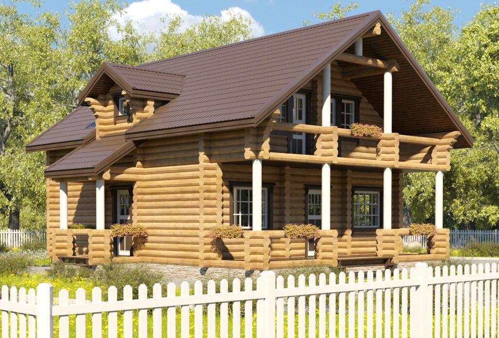 Проект дома выполненный в одном стиле и из одного материала
