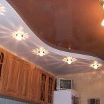 Фото 21: Двухуровневый потолок из гипсокартона