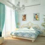 Фото 54: Бирюзовая спальня