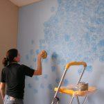 Фото 23: Оформление стен водоэмульсионкой и губкой