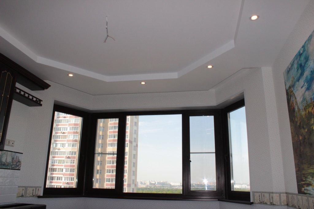 Применение гипсокартона для двухуровневого потолка