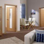 Фото 82: Светлая межкомнатная шпонированная дверь