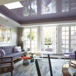 Фото 77: Фиолетовый натяжной потолок