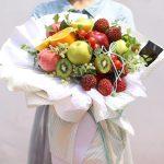 Фото 61: красивый фруктовый букет в подарок учителю на 8 марта