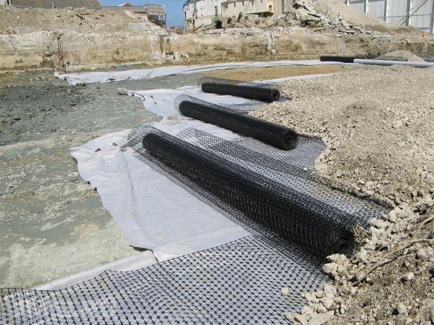 Геополотно - применение в строительстве