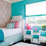 Фото 59: Спальня в бирюзовых тонах для девочки