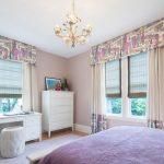 Фото 53: Идея для спальни - римские шторы