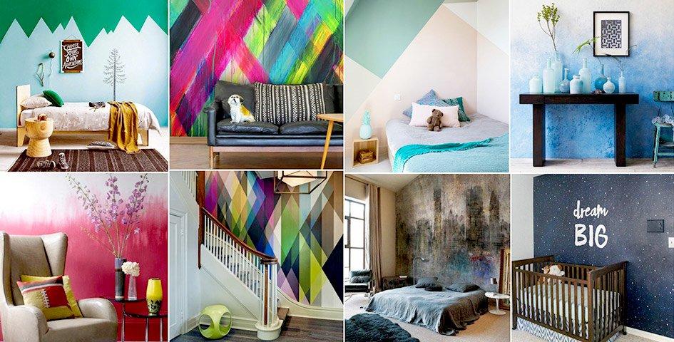 Креативные варианты оформления стен под покраску