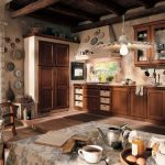 Фото 27: темный тон кухни