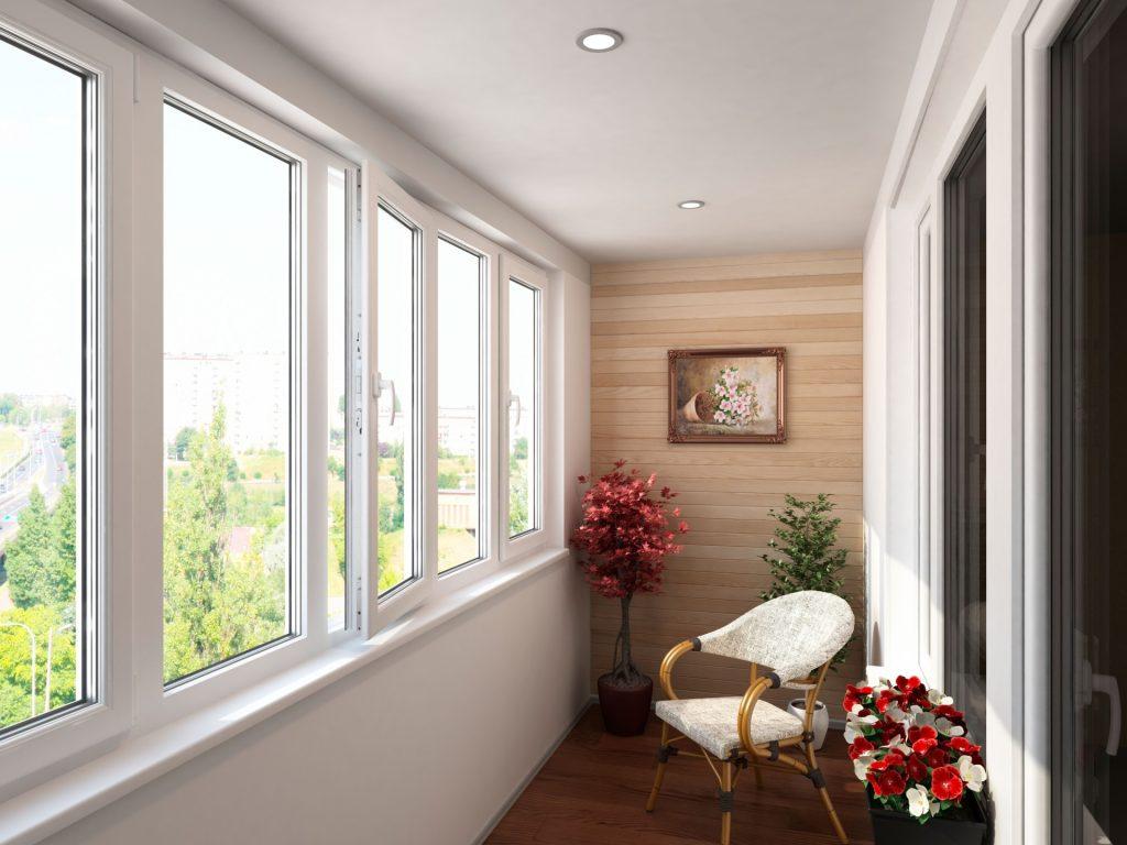 Остекление балкона - прекрасное освещение