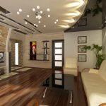 Фото 40: Как выглядит натяжной потолок в интерьере спальни