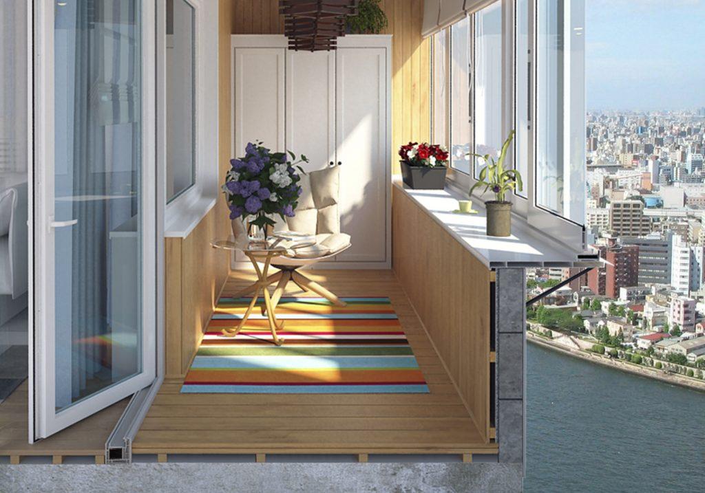 Макет дизайна балкона