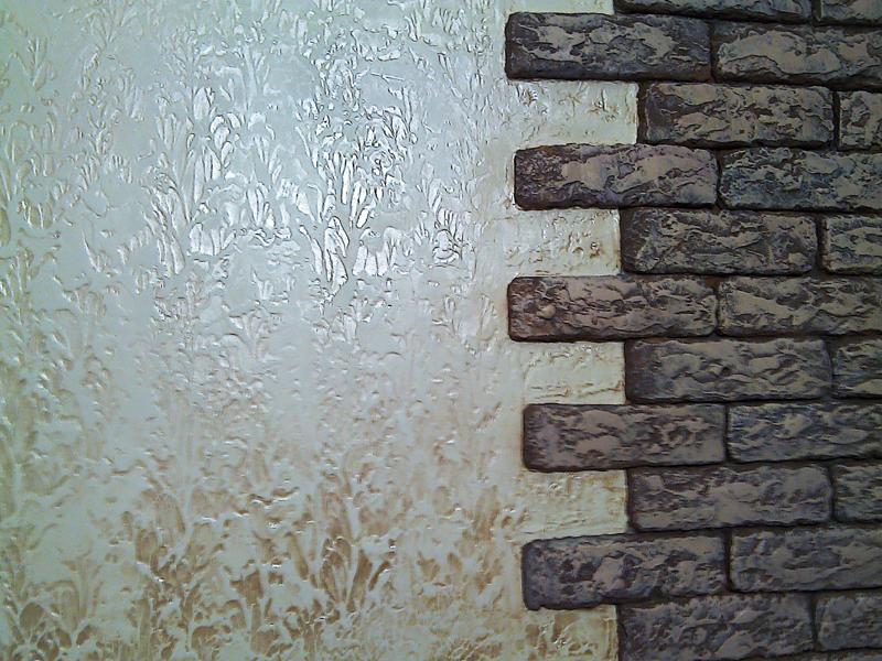 Современное оформление стен декоративной штукатуркой