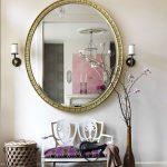 Фото 42: Круглое настенное зеркало для пррихожей