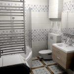 Фото 46: Полотенцесушитель в интерьере ванной
