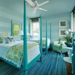 Фото 43: Интерьер спальни в бирюзовых тонах