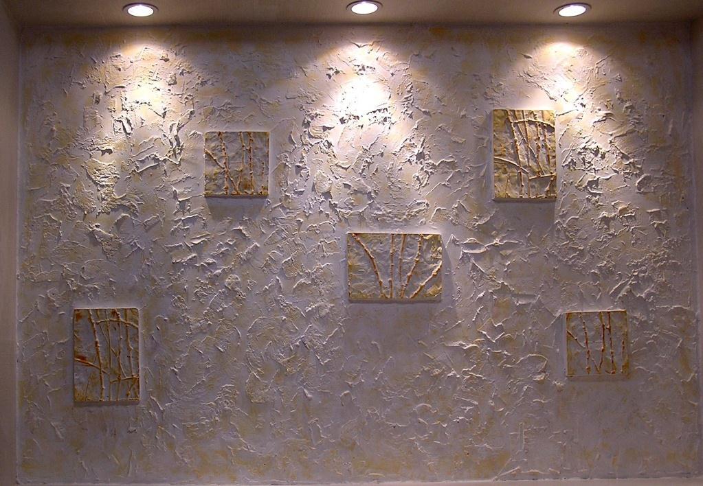 Оформление стен декоративной штукатуркой