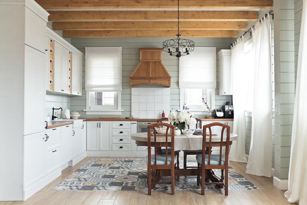 Новомодная мебель в стильной кухне