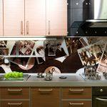 Фото 53: Стеклянная панель для кухни с фото