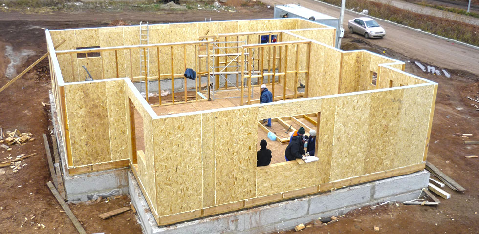 Конструкция дома из СИП-панелей