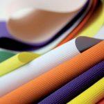 Фото 52: Разноцветные натяжные тканевые потолки