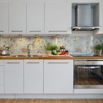 Фото 50: Варианты фартуков для кухни